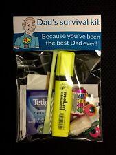 Fathers Day funny novelty Dad's Survival Kit gift set birthday keepsake memory