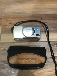 Olympus Stylus Epic Zoom 115 35mm Film Point & Shoot Camera For Parts Or Repair