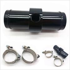 Autos Black CNC Aluminum Inline Radiator Hose Temperature Sensor Adapter 3/8 NPT