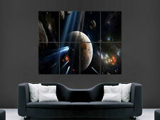 SPACE  PLANETS   ART WALL LARGE IMAGE GIANT POSTER