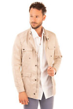 RRP €240 HUSKY Safari Jacket Size 46 / S Stitching Stand-Up Collar Made in Italy
