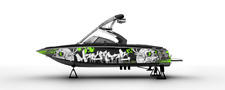 !LBRK GRAPHIC KIT DECAL BOAT SPORT WRAP MASTERCRAFT X2 SKULL LIGHTNING WAKE