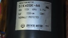 Oriental Electric Induction Motor 51K40GK-AA 40W 1550 RPM
