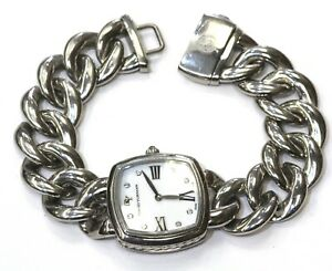 David Yurman stainless steel T 932-M womens diamond watch 27mm designer rare