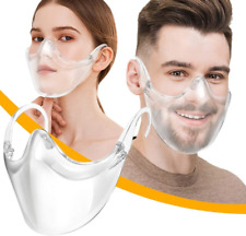 Clear Face Mask Shield Safety Protector Reusable Plastic Transparent Cover USA