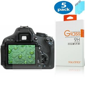 [5x] For Canon 800D HD Tempered Glass Screen Protector