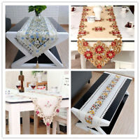 Embroidery Lace Floral Table Runner Wedding Party Dining Room Decor 15X68inch
