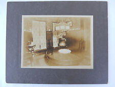 c 1890 Cabinet Photo Victorian American Interior Decor Dining Room Telephone (2)