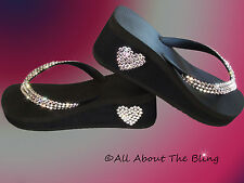 4b4e52498 Havaianas flip flops or Cariris Wedge using Swarovski Crystals rhinestone  BRIDE