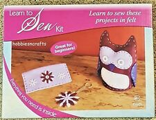 THE CRAFT FACTORY FELT LEARN TO SEW KIT AGE 6+  -  OWL PURSE & FLOWER KEYRING