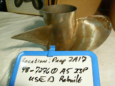 """Old Stock Mercury Stainless Steel Prop 13.5""""x23""""RH 48-72760A5 INCLUDES HUB!"""