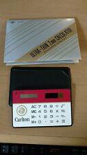 Carlton Cigarettes Ultra thin Solar Calculator