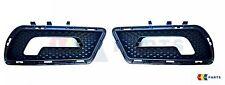 NEW GENUINE MERCEDES MB W212 E CLASS AMG FRONT BUMPER COVER GRILL BLACK SET L+R