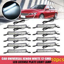 10pcs Universal Car 12V Xenon White 12-SMD LED 6000K Bolt-On License Plate Light
