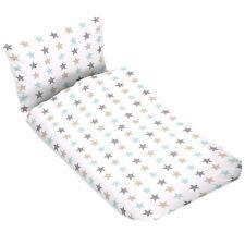 Bettwäsche Kinder Baby Bettbezug 100x135 reine 100% Baumwolle Weiß Sterne