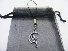 Tibetan Silver Moon Fairy Mobile Phone / Handbag Charm With Gift Bag