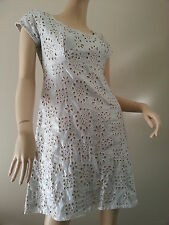 WILD ORCHID silver metallic 100% cotton lace-look baby doll dress size 10 BNWT