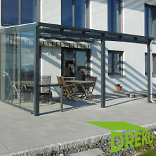 Terrassendach Pergola Überdachung Terrassenüberdachung ALUMINIUM mit VSG - Glas