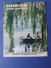 HONDA POWER PRODUCTS BROCHURE FLYER BOAT MOTOR ENGINES BIKES PRICE LISTS 1972/73