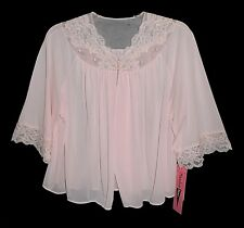 New Nwt vintage 1980s, Shadowline, Sleep Top, Pink Lace Embroidery beautiful M