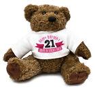 21st Birthday Teddy Bear Gift Idea Present Special Daughter Girl Cute Family 30