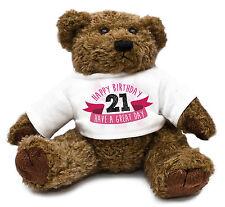 21st Birthday Teddy Bear Gift Idea Present Special Daughter Girl Cute Family #30