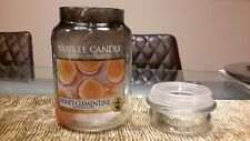 *EMPTY* YANKEE CANDLE large jar honey clementine with lid *candle making*