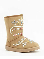 JEWEL EMBELLISHED SUEDETTE  BOOTS, NEW IN BOX, SIZE  6.5 , EU 40