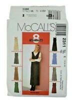 McCalls 2311 Misses Dress Jumper Sewing Pattern Size 14-18 OOP UNCUT 2 Lengths