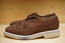 NEW WITH BOX! TRICKERS UK 11 US 12 LONGWING WINGTIP BROWN KUDU REVERSE SUEDE