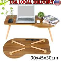 Portable Folding Desk Wooden Laptop Computer Bed Table Stand Tray Coffee Table