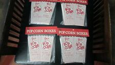 HTF 24 Pop Corn Boxes Foodsafe Pop Up Cardboard Old Fashioned Red Striped White