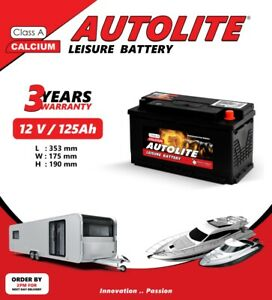 12V 125AH LEISURE BATTERY HEAVY DUTY LOW HEIGHT DEEP CYCLE