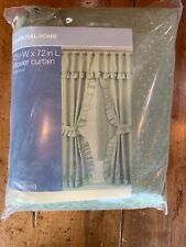 """Essential Home Dobby Swag Fabric Shower Curtain 70"""" By 72"""""""
