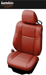 2015 to 2021 Dodge Charger SXT RT R/T Custom Leather Seat Covers - Red