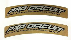 PRO CIRCUIT FRONT FENDER CURVES GRAPHICS  DECALS MOTOCROSS ENDURO