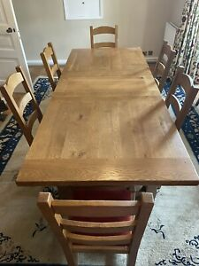 Solid Wood Dining Table And 6 Chairs.