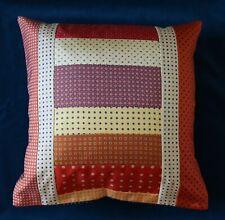 "100% Silk Patchwork Millefiori cushion cover 17"" square. Hand made"
