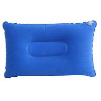 Ultralight Inflating Travel Camping Pillow Compact Soft Pillow 43x27cm Blue