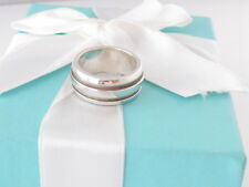 TIFFANY & CO SILVER ATLAS GROOVE RING BAND SIZE 7 BOX INCLUDED