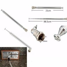 98cm 7 Sections F Type Replacement Telescopic Aerial Antenna DAB TV FM Radio New
