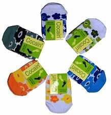 6 Pair Socks for Heel-Free Shoes Socks Brand COCAIN