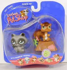 2006 Raccoon & Squirrel Pet Pair #195 & #196 littlest pet shop NEW