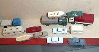 Wiking Spur N LKW`s PKW´s, 2x Wohnwagen,Boote Modellautos M 1:160, 13-teilig gut