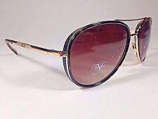 7b08efb7d1c3 19V69 Italia BELLA VERSACE1969 BROWN BLACK GOLD Aviator Sunglasses