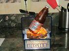Rare Vintage Budweiser Light Back bar OLD STYLE Bottle lighted Sign Made in USA