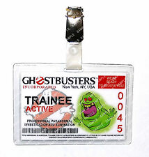 Ghostbusters Trainee ID Badge Slimer Proton Pack Cosplay Prop Costume Halloween