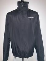 TImberland Weathergear Men's Black Casual Zip Coat Jacket Windbreaker  L VGC