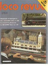 LOCO REVUE N°414 MODELISME D'ATMOSPHERE / IMMEUBLES DS LA VILLE / BB 63998 ROCO