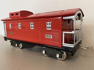 MTH 10-1098 :: Caboose No. 500 Red w/Nickel Trim - Std. Gauge
